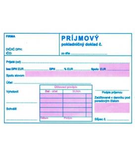 Príjmový pokladničný doklad s DPH dvojfarebný A6 NCR, M171/ 5 ks