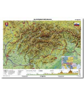 Mapa nástenná Slovensko - geografická B1