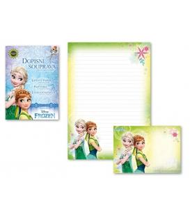 Dopisný papier - konfekcia Frozen