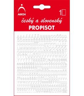 PROPISOT písmená - výška 5 mm, biely