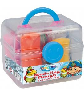 Plastelína ľahká v  kufriku 6 farieb á 15gr.