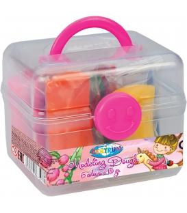 Plastelína ľahká v kufríku 6 farieb á 15 gr.