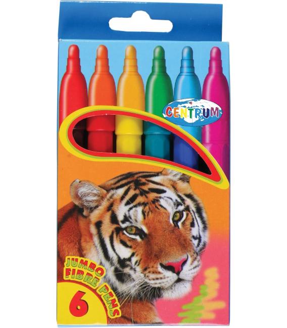 Značkovače JUMBO 6 farebné motív ZOO.