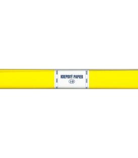 Krepový papier žltý tmavý 110
