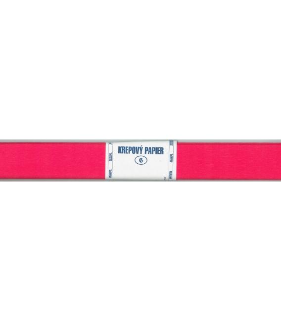 Krepový papier červený svetlo (140)  200 x 50 cm