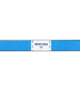 Krepový papier 25 modrý belasý, 200 x 50 cm