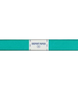 Krepový papier 36 modrý azúrový 200 x 50 cm