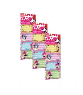 Samolepiace štítky na zošity - Minnie - 12ks