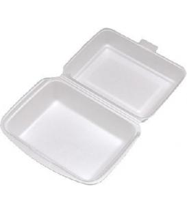 Menu box biely 185 x 133 x 75 mm, penový, 125 ks