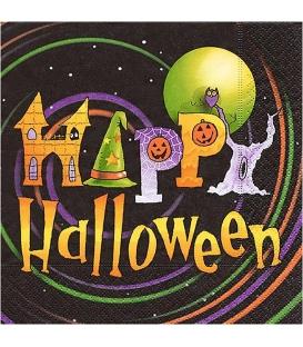 Servítky dekoračné - veselý Halloween 33x33cm, 20ks