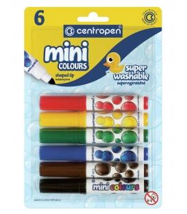 Značkovače mini colours 6 farieb v blistri