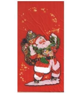 Mikulášsky sáčok jednostranný 15x35cm - Červený Mikuláš