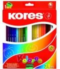 Farbičky trojhranné 24 far. + strúhadlo 3mm