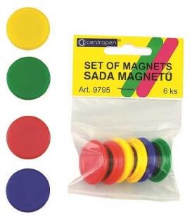 Magnety 9795 6 ks mix farieb