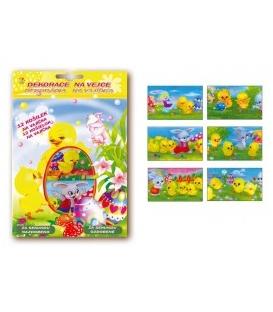 Veľkonočné dekorácie na vajíčka - fóliové košielky 732  12 ks