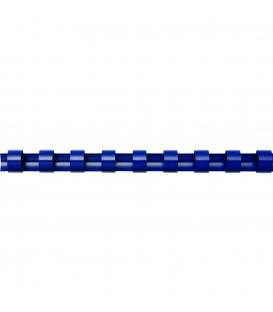 Hrebeň pre krúžk. väzbu 12mm modrý, 100ks