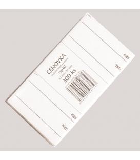 Cenovky č. 02,  63 x 39 mm