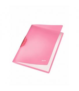 Obal A4 s klipom LEITZ COLOR CLIP Rainbow 41760065 ružový
