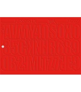 Nástenkové písmená a čísla, 4 hárky 35x25 cm, červené 435