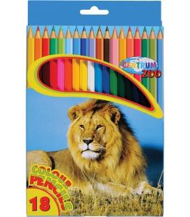 Farbičky 18ks s motívom Zoo
