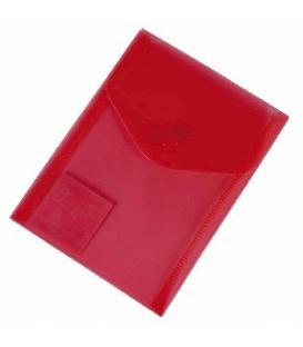 Plastový obal s cvokom A6 červený