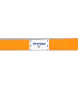Krepový papier oranžový tmavý 125