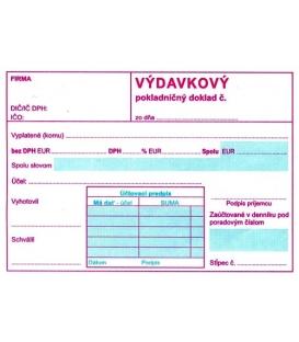 Výdavkový pokladničný doklad s DPH dvojfarebný A6 NCR, M172/ 5 ks