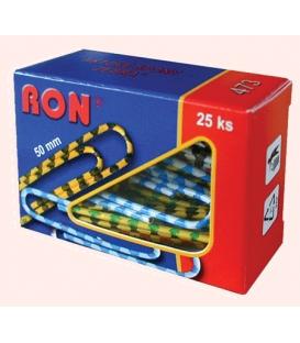 Spony kancelárske 50 mm RON 473 B zebra, 25 ks