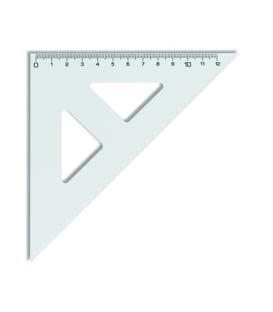 Trojuholník 45/141 s kolmicou transparentný, 744 100