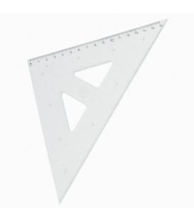 Trojuholník 45/141 s kolmicou transparentný, 745 558