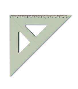 Trojuholník 45/177 s kolmicou transparentný, 744 150