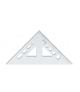 Trojuholník 45/177 s výrezmi transparentný,  745 518