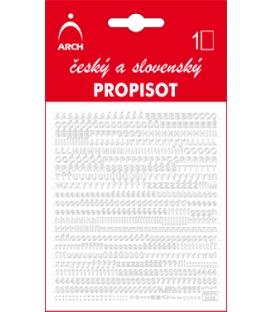 PROPISOT písmená - výška 3 mm, biely