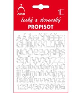 PROPISOT písmená - výška 10 mm, biely