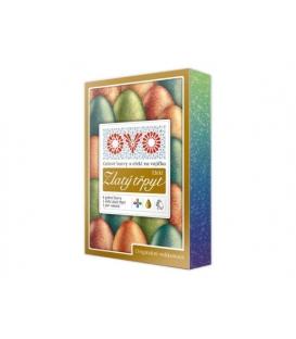 Tekutá farba na vajíčka - zlaté trblietky 5 x 5 ml