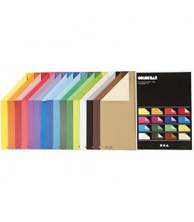 Ofsetový kartón jedna strana sýtejšia A4/100g, 16 farieb po 10ks