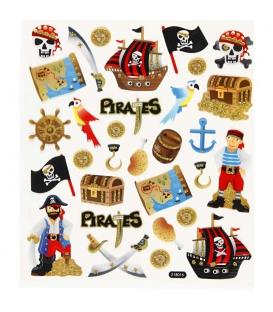 Nálepky trblietavé piráti 15x16,5cm 1 list