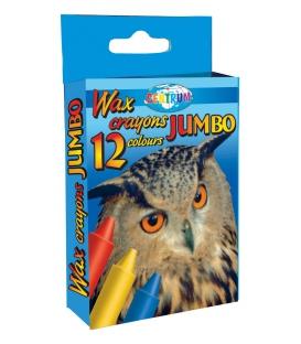 Voskovky JUMBO 12 farebné