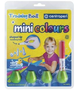 Značkovače mini colours 8 farieb v blistri + 4 adaptéry