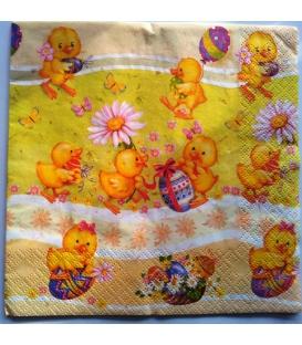 Servítky Veľkonočné Daisy 33 x 33 cm, 20 ks, 3 vrstvy - MIX motívov