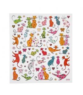 Nálepky mačky 15 x 16,5cm 1 list