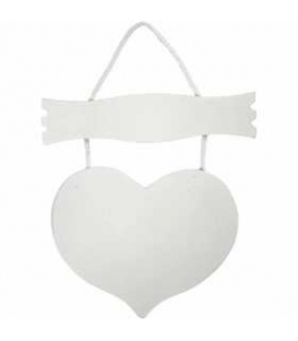 Srdce a nápis na šnúrke z dreva 10ks v balení