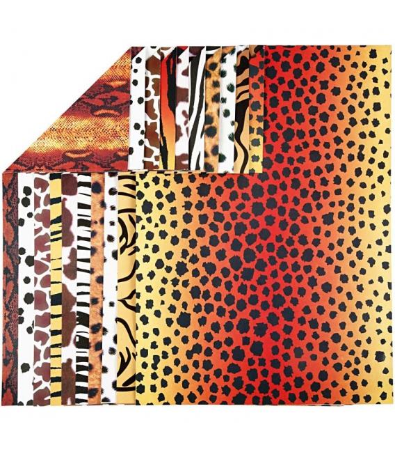 Ofsetový kartón A4/300g, zvieracie vzory, 10ks