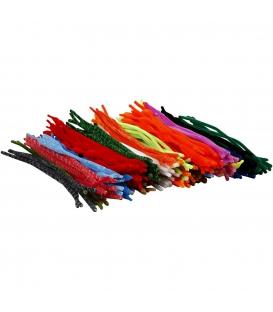 Drôtiky plyšové 500ks, rôzne farby