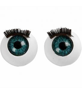 Oči veľké s mihalnicami 12mm, 6ks