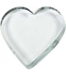 Srdce z číreho skla 1ks