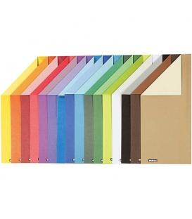Ofsetový kartón jedna strana sýtejšia A4/250g, 16 farieb