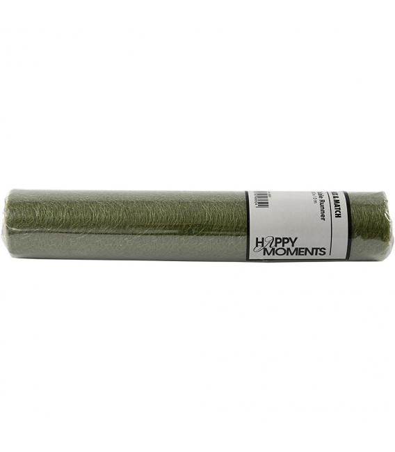 Dekoračná sieťka 30cm x 10m - tmavá zelená