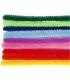 Drôtiky plyšové 25ks, rôzne farby