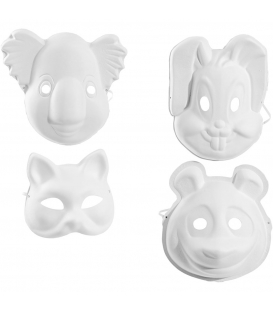 Masky zvieracích tvarov, 12ks